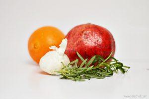 Easy and delicious hummus recipe using rosemary, garlic and pomegranate.