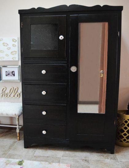 DIY armoire furniture redo