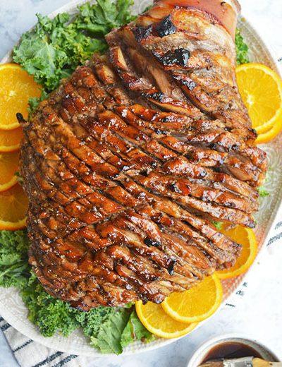 orange honey ham